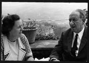 Eilís Dillon photographed in Italy with the Italian writer Ignazio Silone (1900–1978). Photograph by Darina Silone